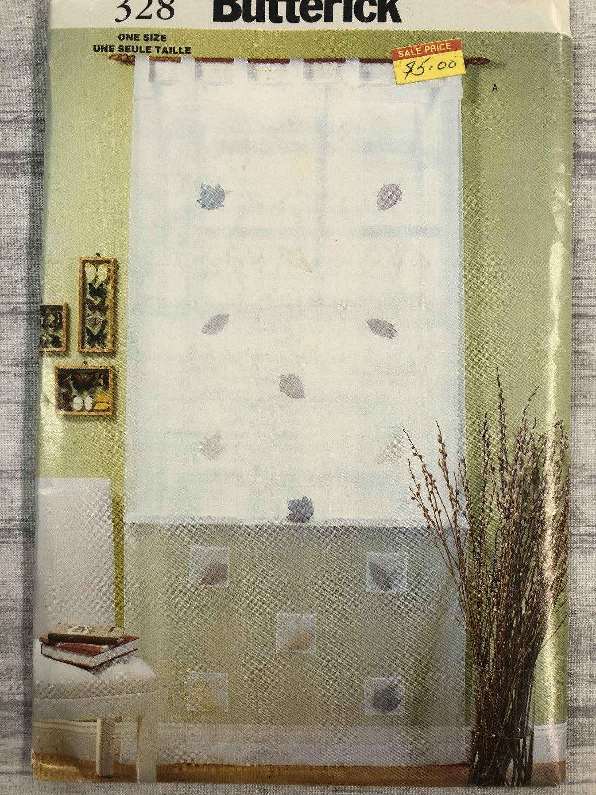 Butterick Waverly Window - Tab Top Pocket Curtain 0328