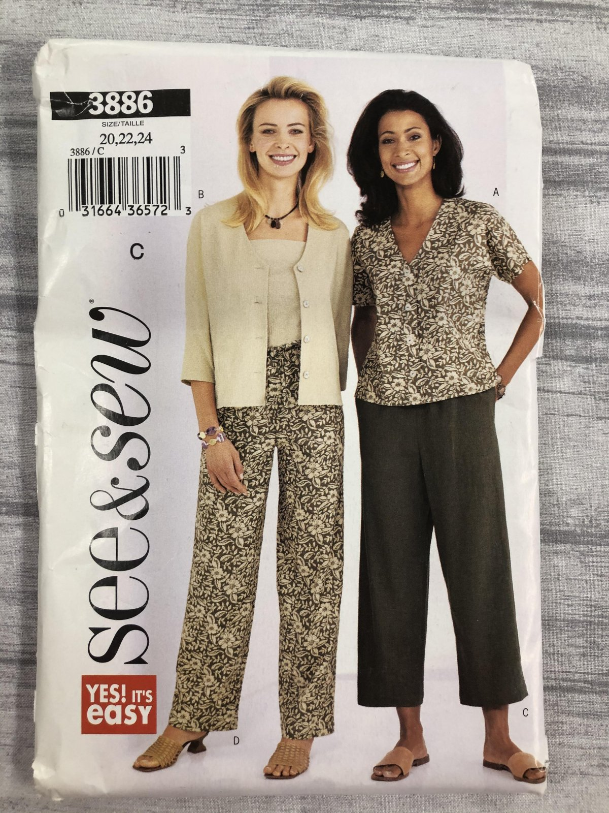 See & Sew 3886 Sizes 20-24