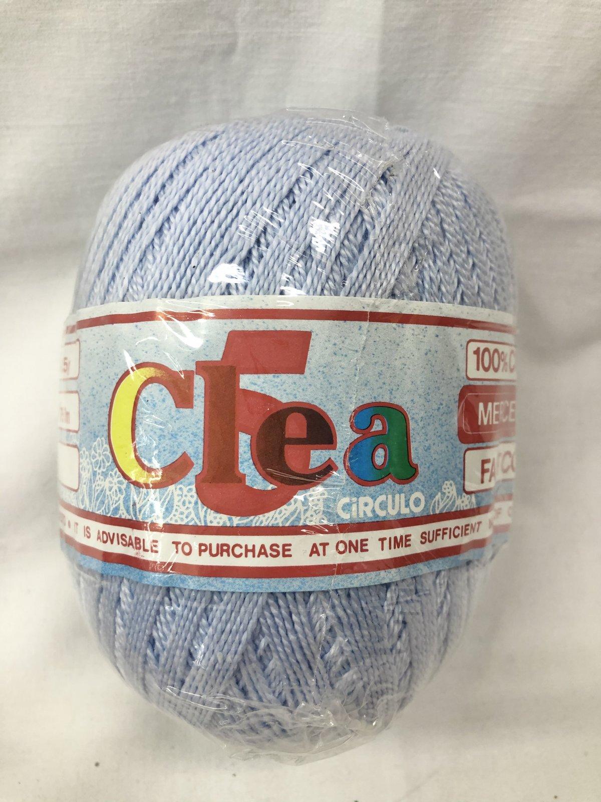 Clea Crochet Cotton Size5 Baby Blue