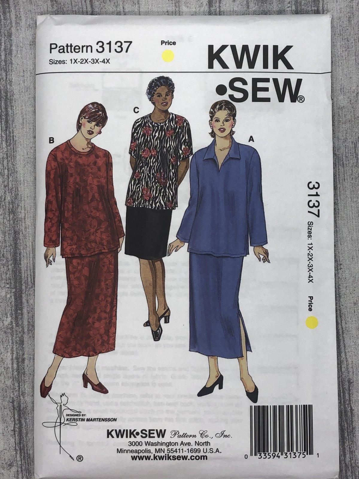 Kwik Sew 3137 Sizes 1X-4X