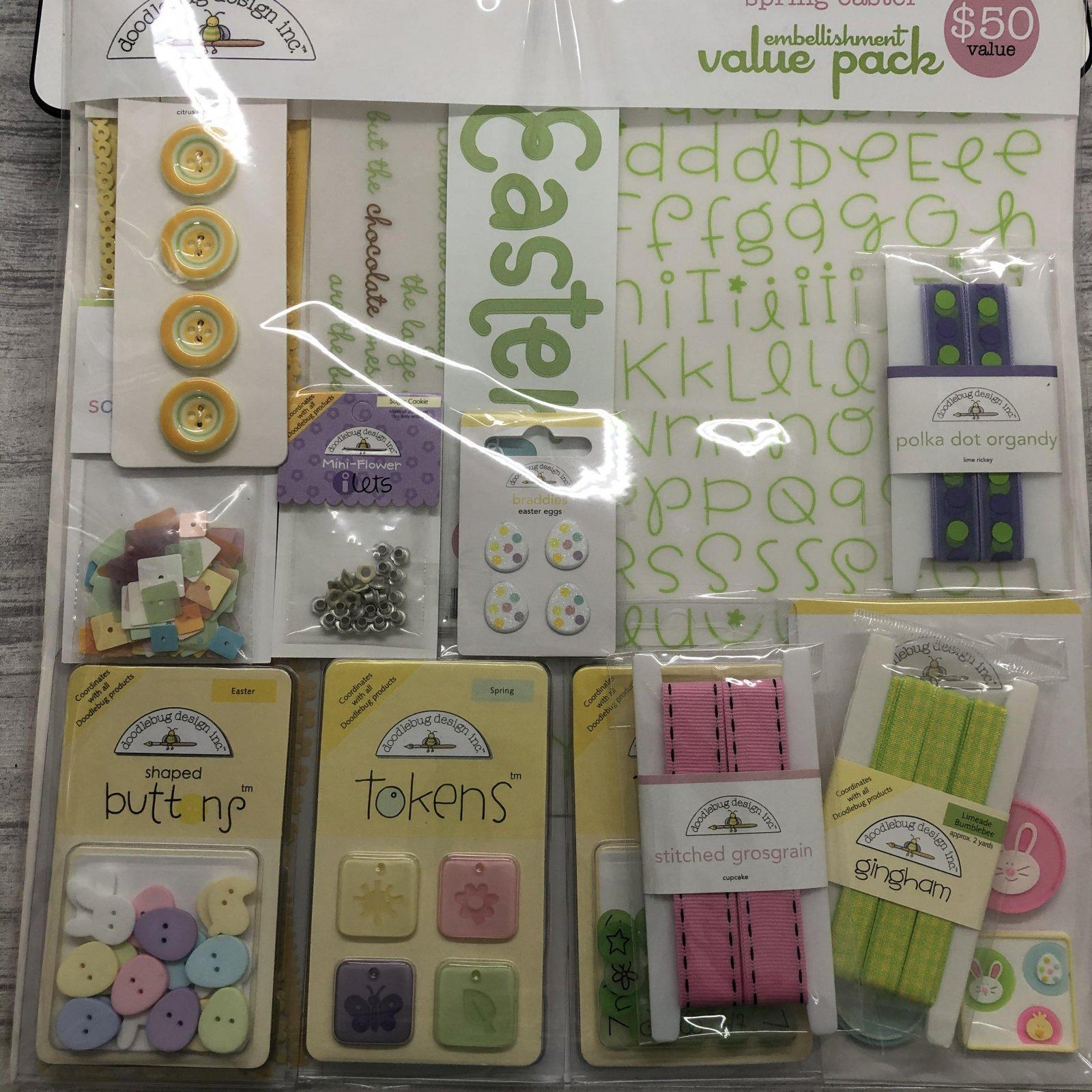 Doodlebug Designs Inc. Embellishment Value Pack Spring-Easter 3803 spring-easter