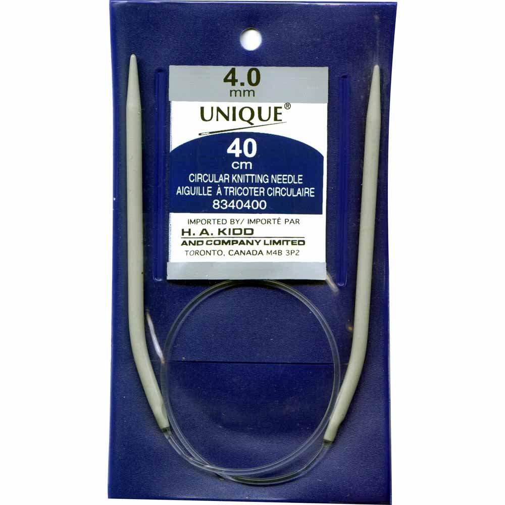 UNIQUE KNITTING Circular Knitting Needles 40cm (16?) Aluminum - 4mm/US 6