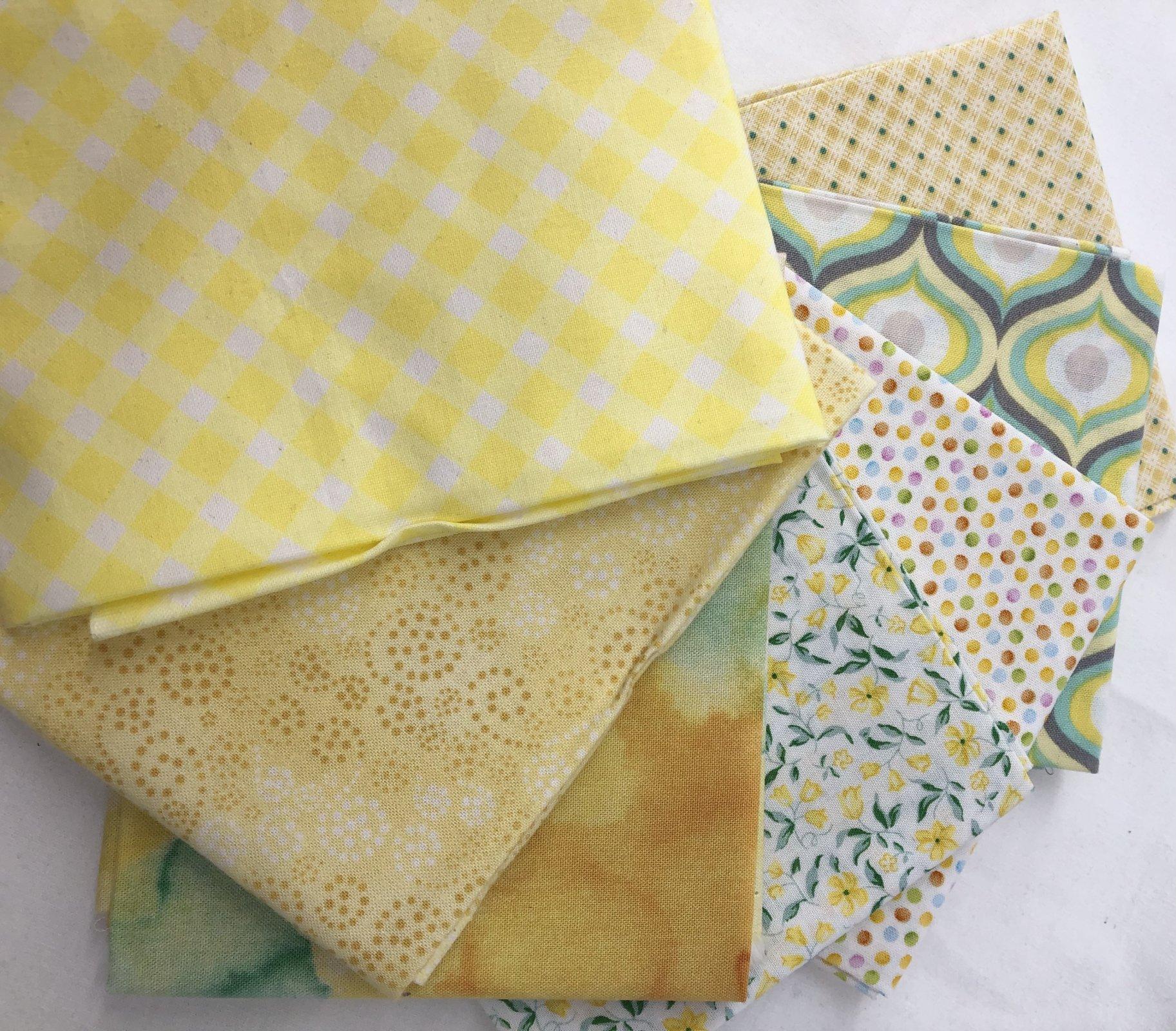 Fat Quarter Pack - 7pcs/bundle - In store - Yellow