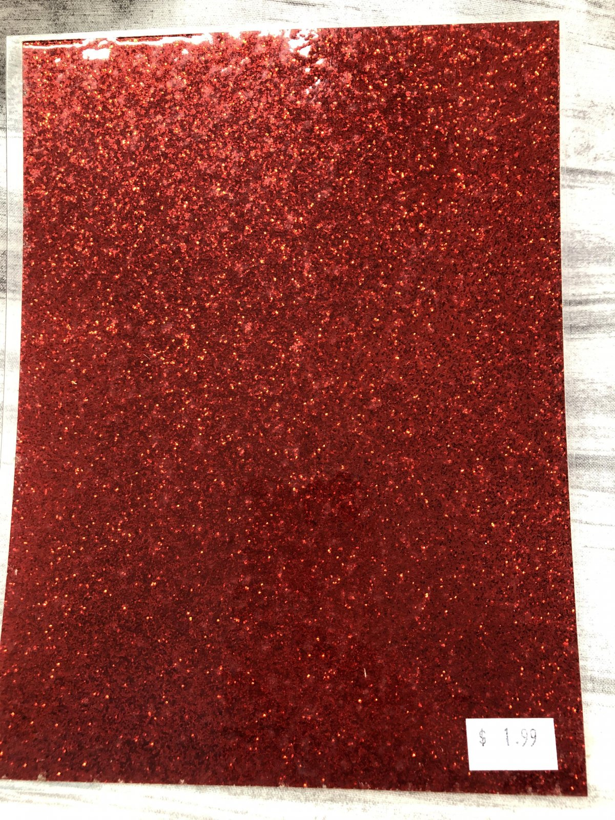 Stained Glass Acrylic Sheeting - Red Sparkle