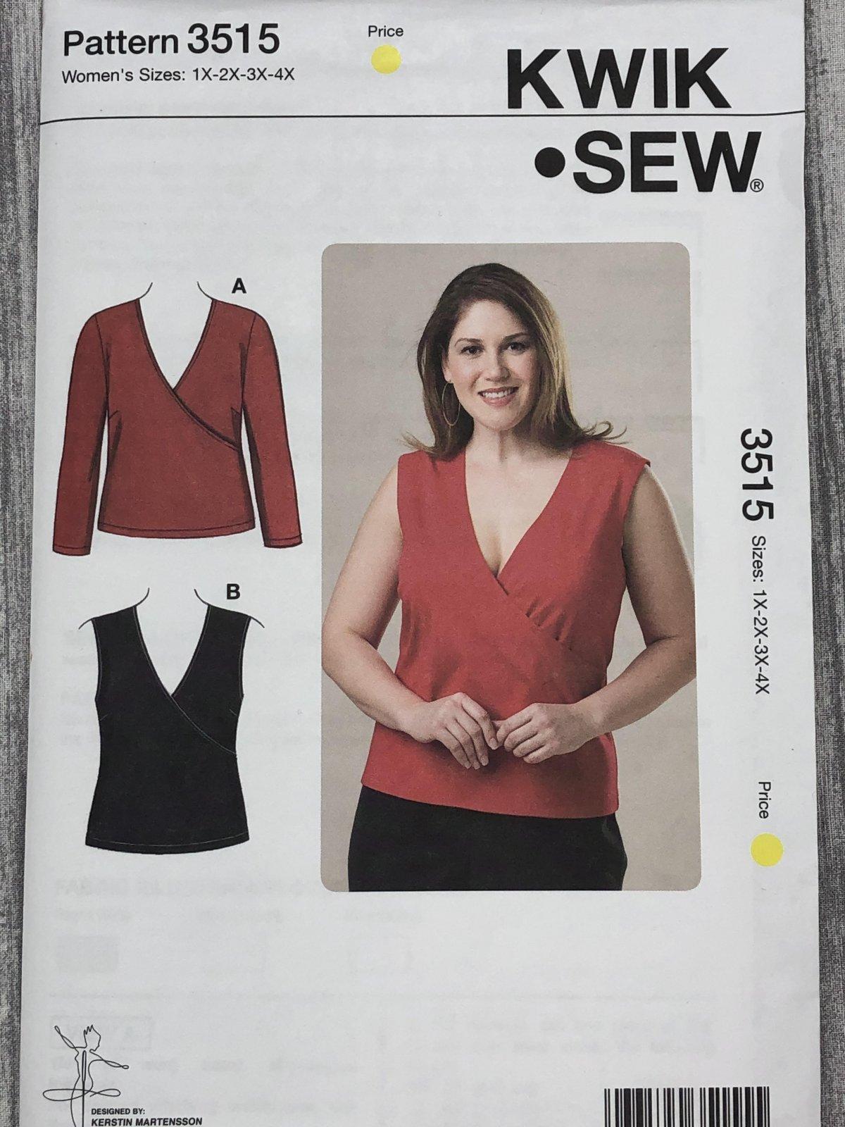 Kwik Sew 3515 Sizes 1X-4X