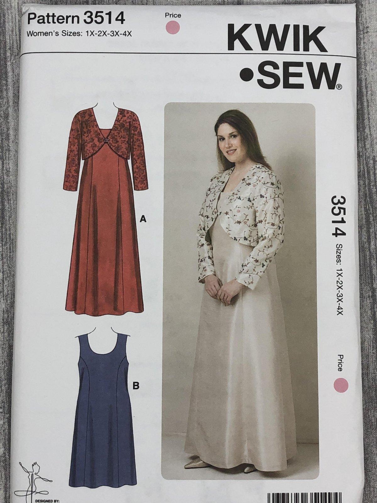 Kwik Sew 3514 Sizes 1X-4X
