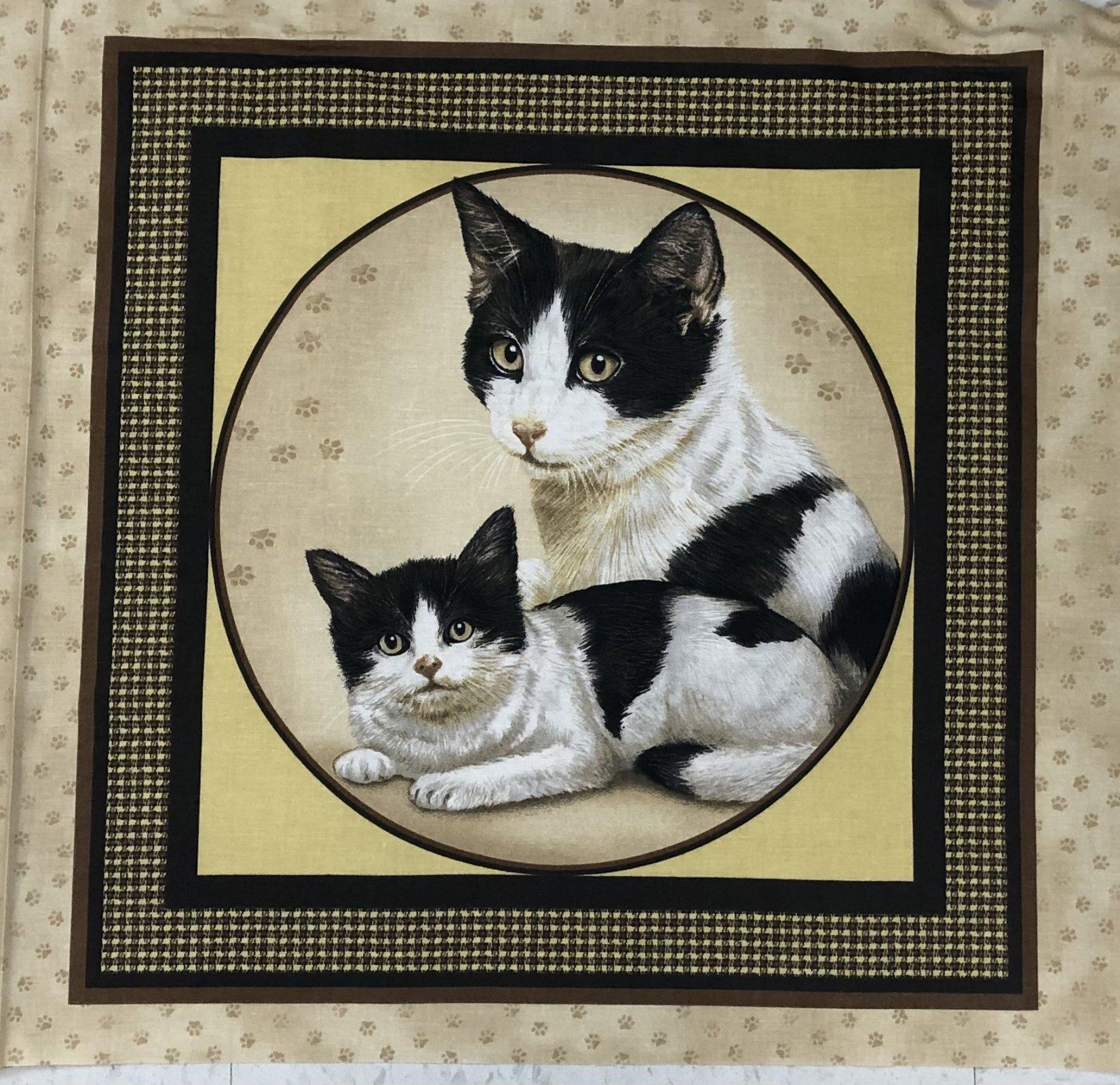 V.I.P Prints Cat Pillow Panel - 17.5