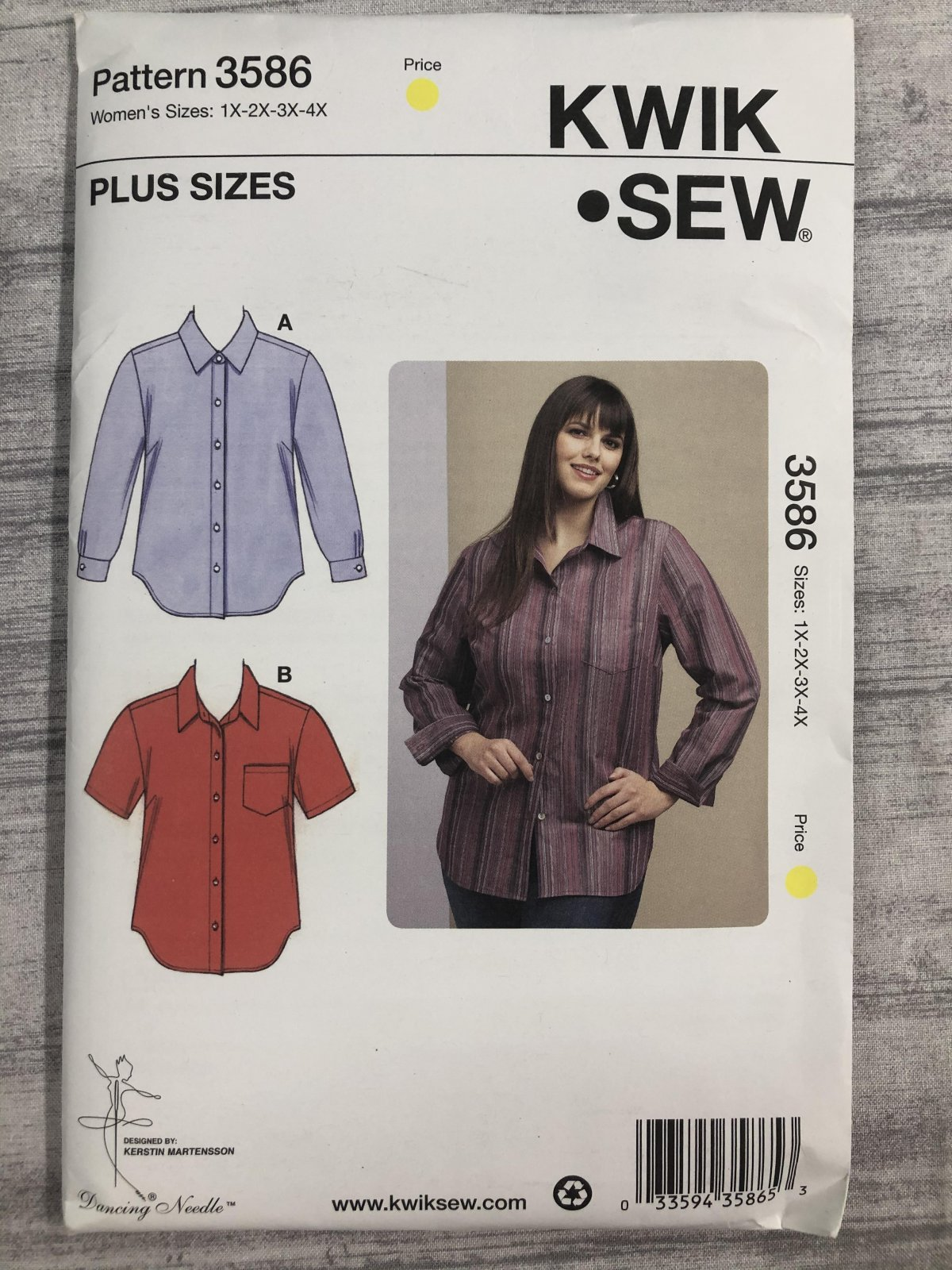 Kwik Sew 3586 Sizes 1X-4X