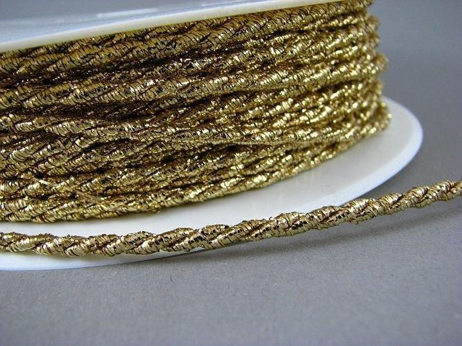 Wired Cording Metallic Gold 70%Polypropyene/17%Metallic/13%Cotton 4062-001