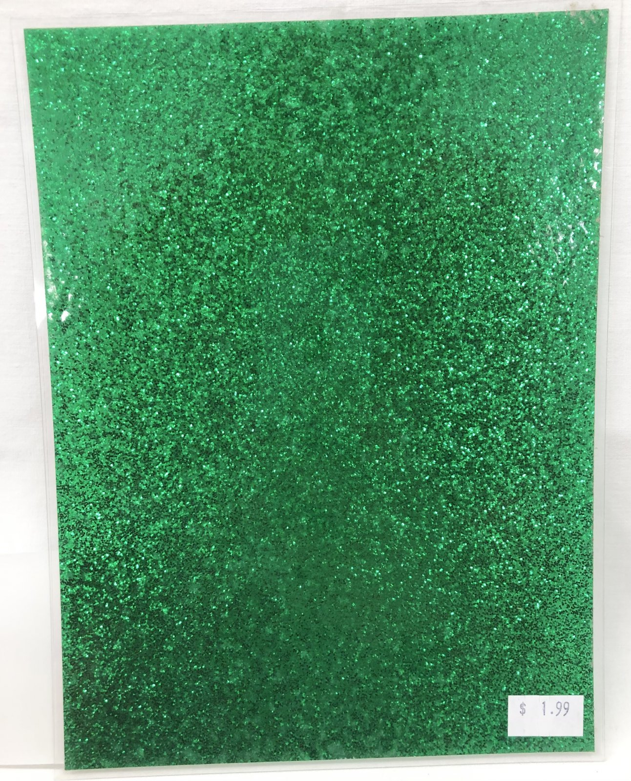 Stained Glass Acrylic Sheeting - Green Sparkle