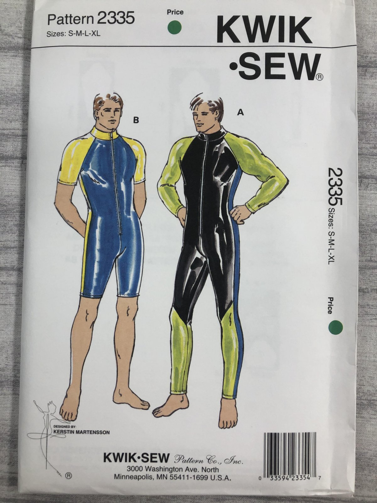 Kwik Sew 2335 Sizes S-XL