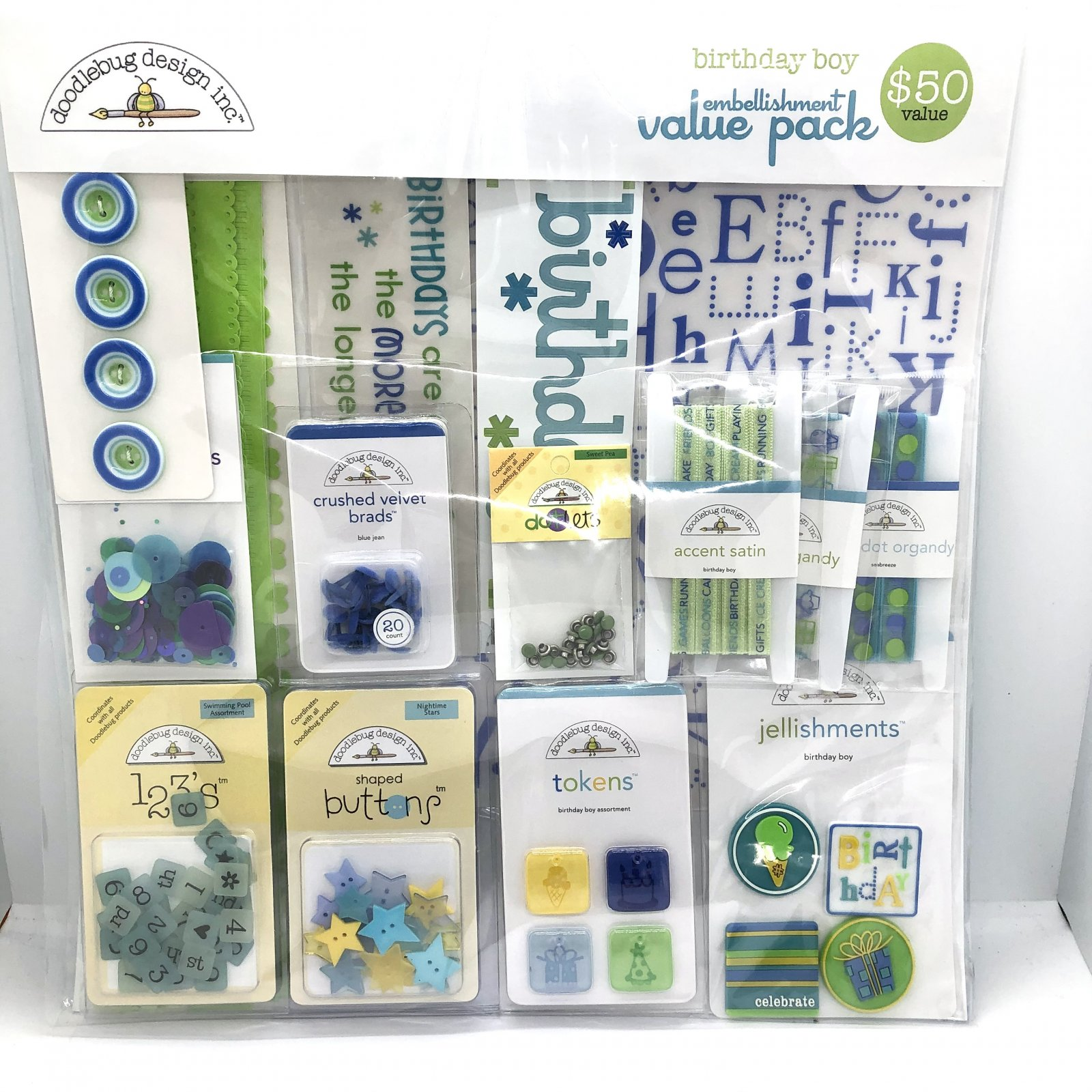Doodlebug Designs Birthday Boy Embellishment Value Pack