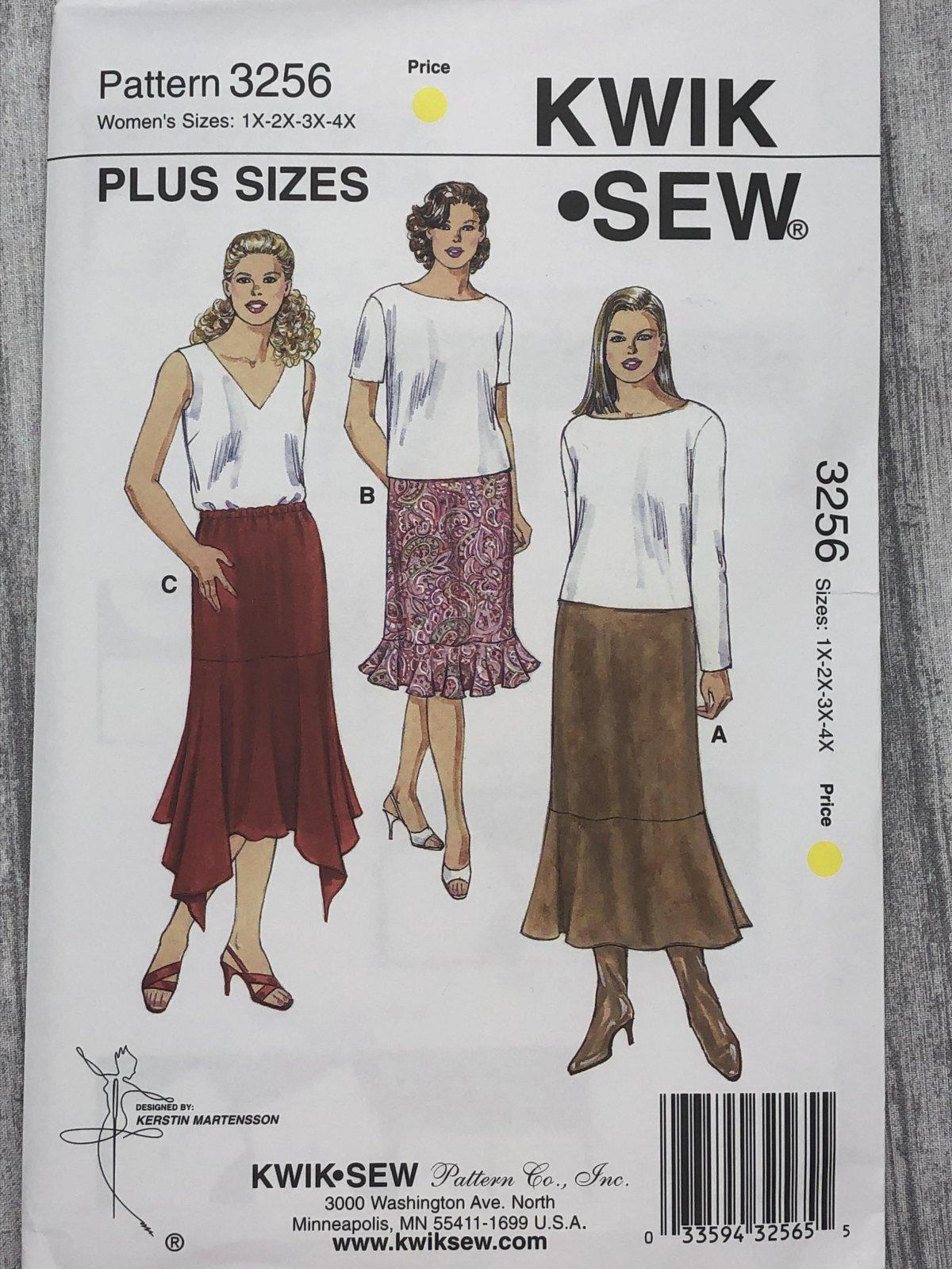 Kwik Sew 3256 Sizes 1X-4X