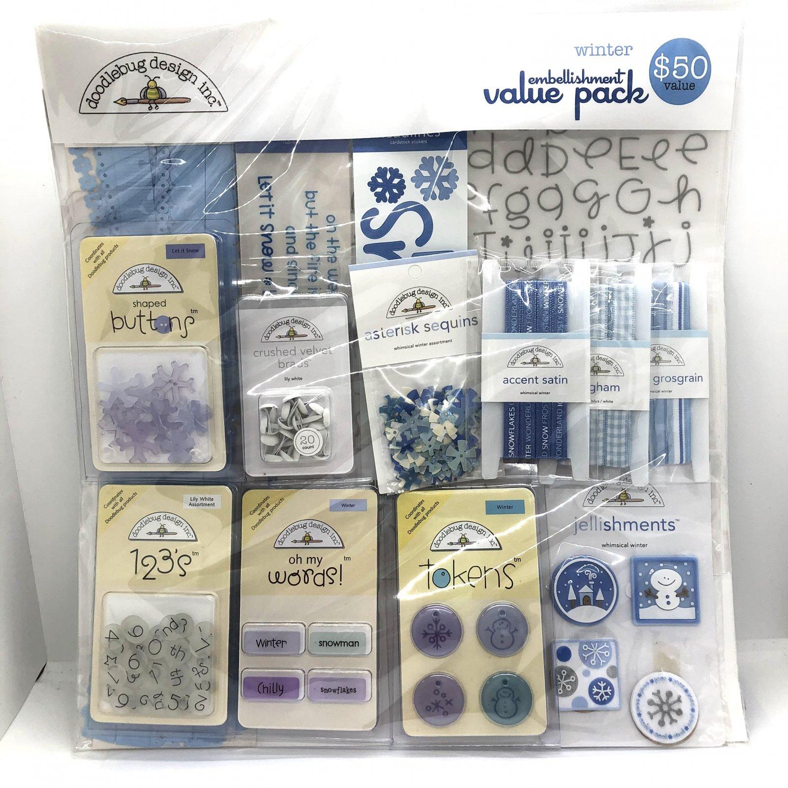 Doodle Bug Designs Winter Embellishment Value Pack