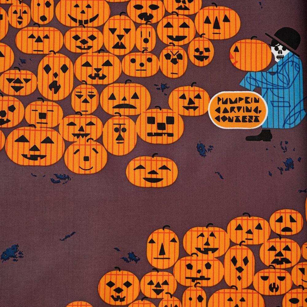 Charley Harper Halloween - David Textiles - Jack-O-Lantern