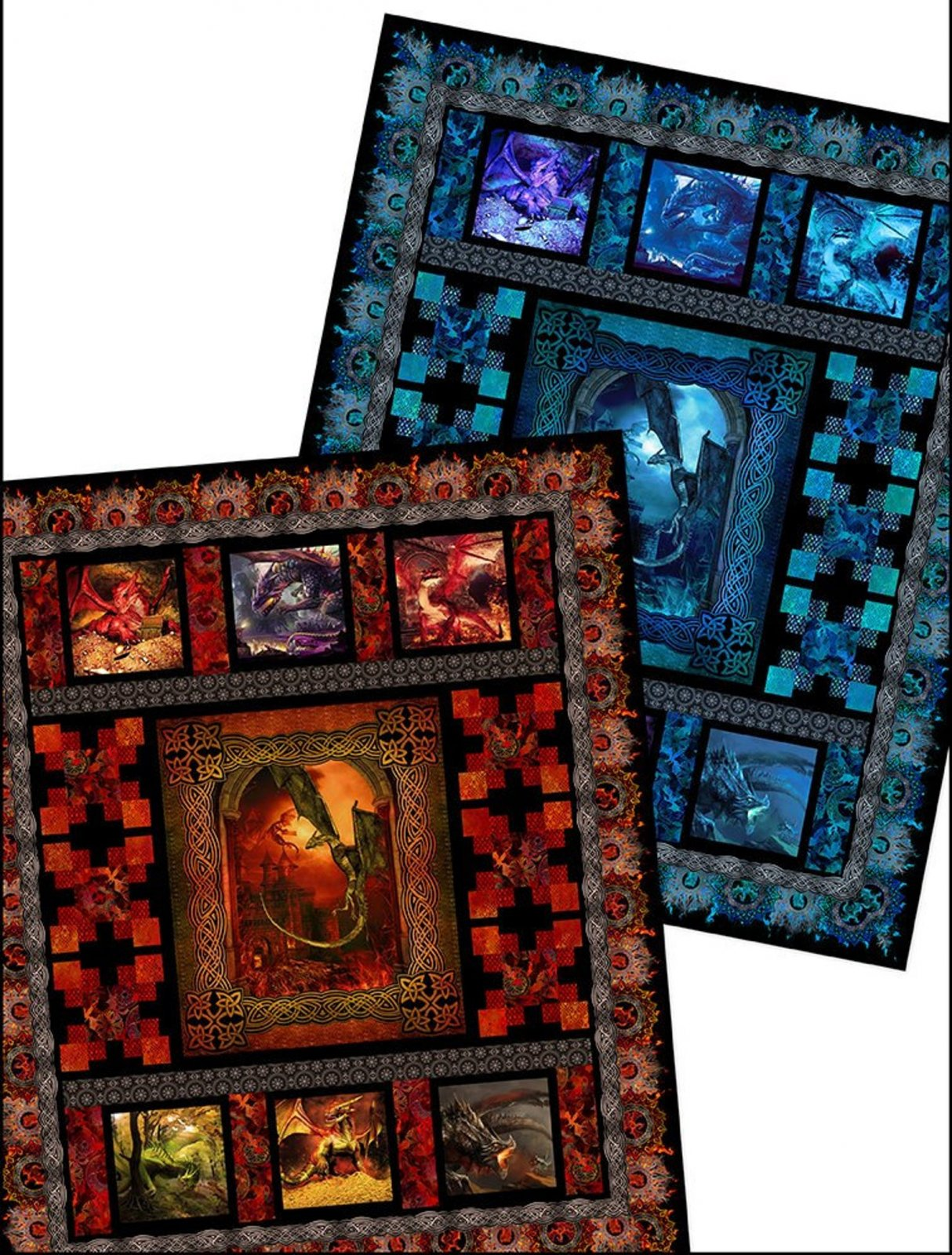 Dragons Quilt Kit from In the Beginning