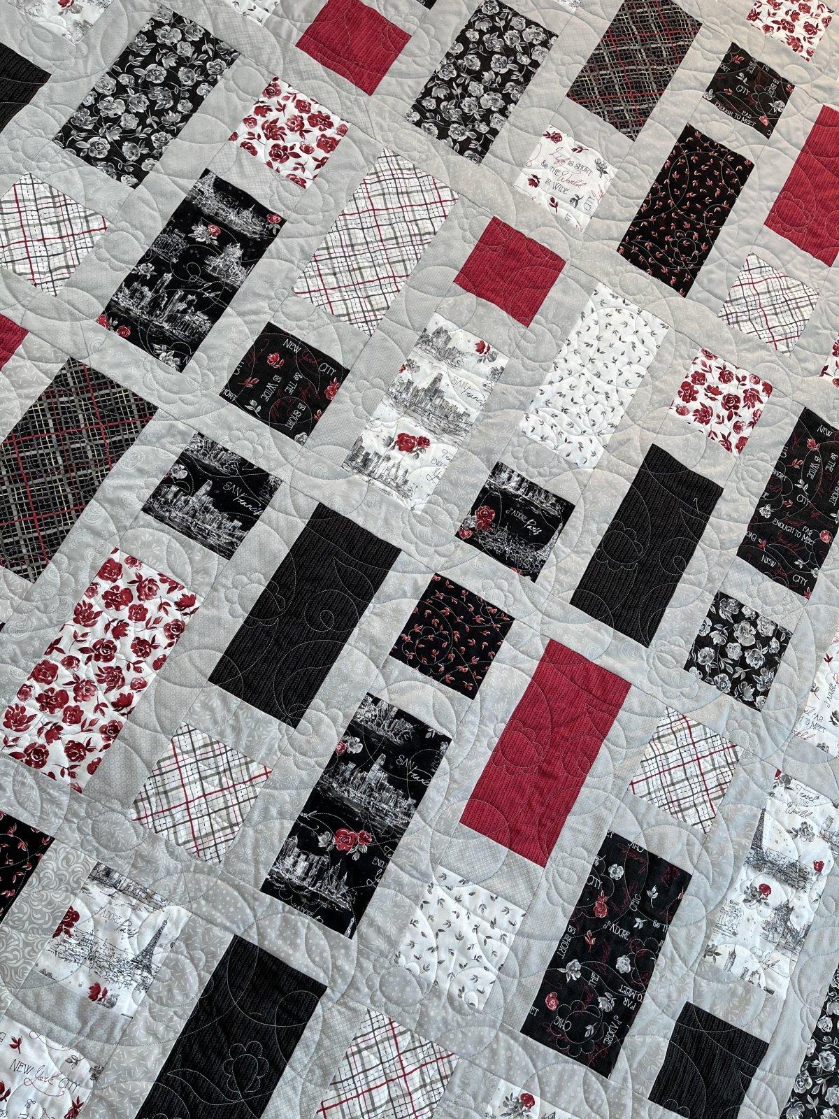 Travel the World Quilt Kit - 82 x 88 Quilt Kit - Wilmington Fabrics