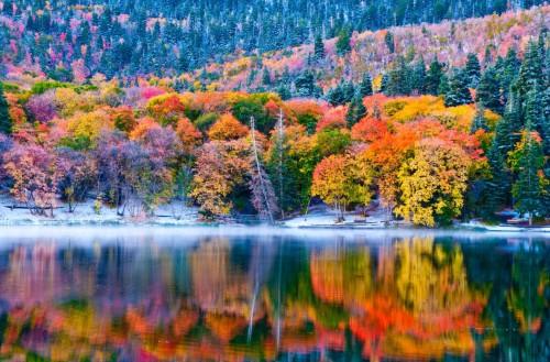 Autumn Lake Reflection Deluxe Framing