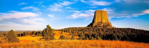 Devils Tower Panoramic Framed Image