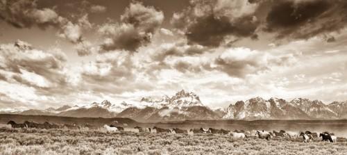 Wyoming Skies Panoramic Deluxe Framing