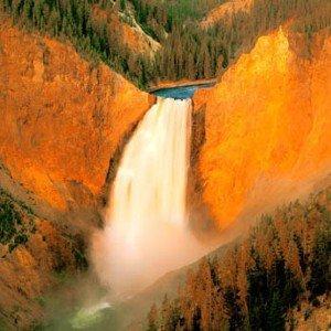 Yellowstone Falls Panoramic Deluxe Framing