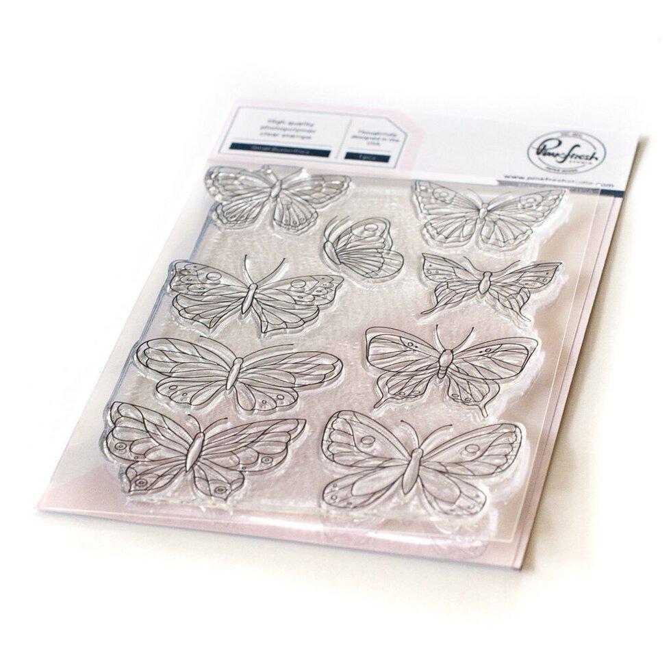 Pinkfresh Studio Small Butterflies Stamps, Dies & Coloring Stencil BUNDLE