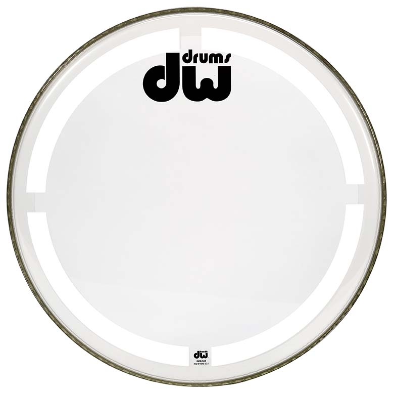 DW 24 INCH COATED CLEAR BASS DRUM HEAD