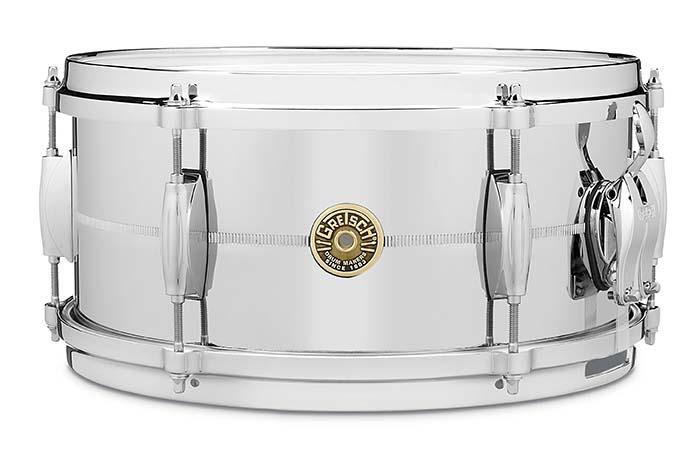 Gretsch USA Custom 6x13 Chrome Over Brass Snare Drum