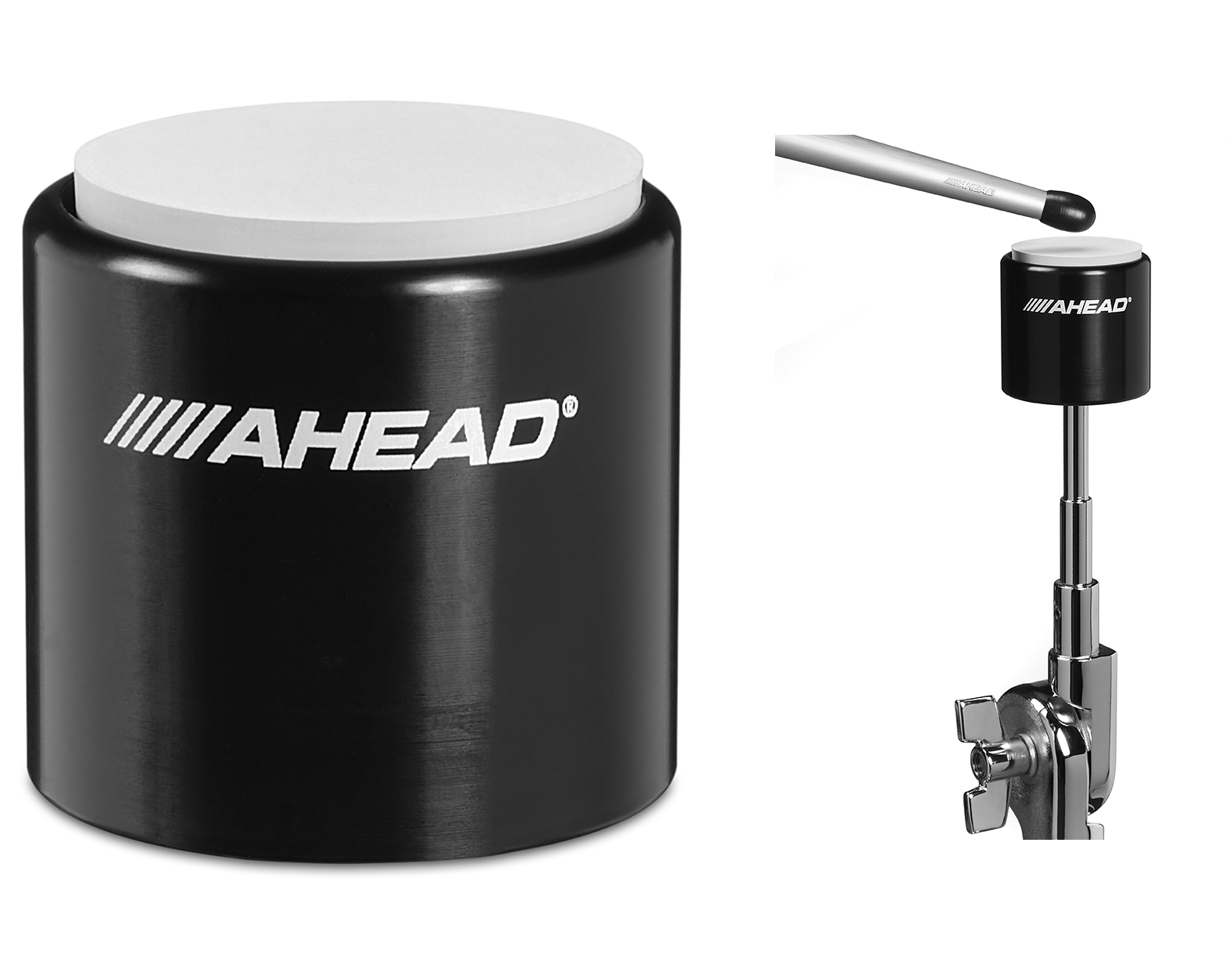 Ahead 10 S-Hoop Pad with Snare Sound Black Rubber/Red Hoop