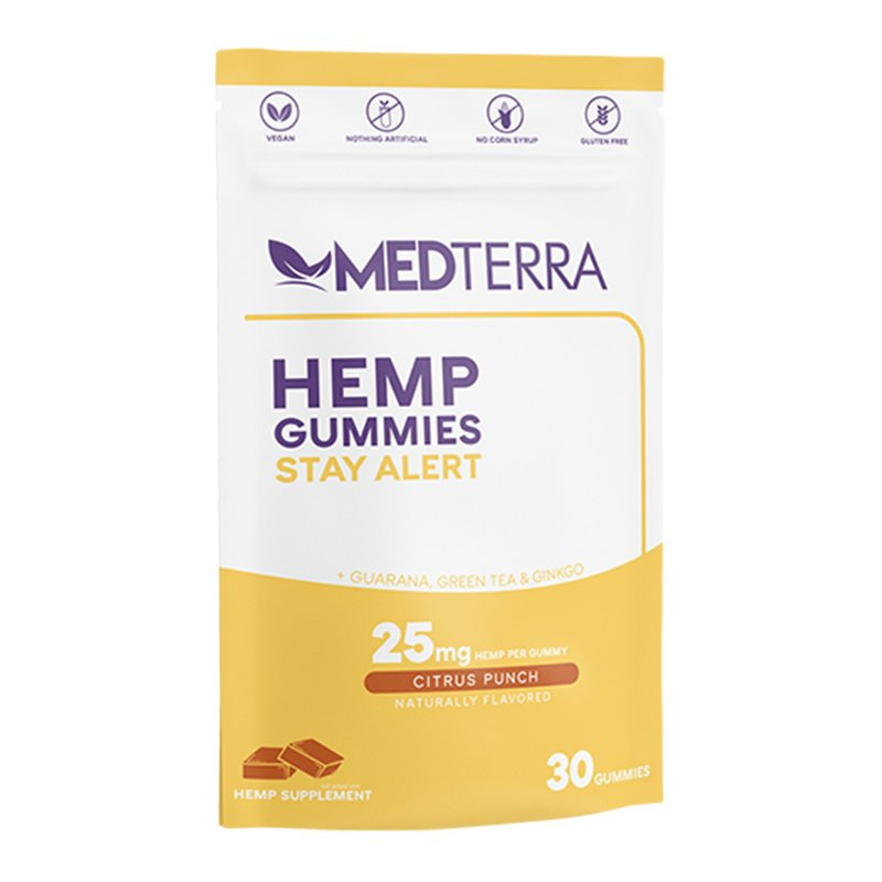 MedTerra CBD Gummies - Stay Alert - Citrus Punch 30 Pack