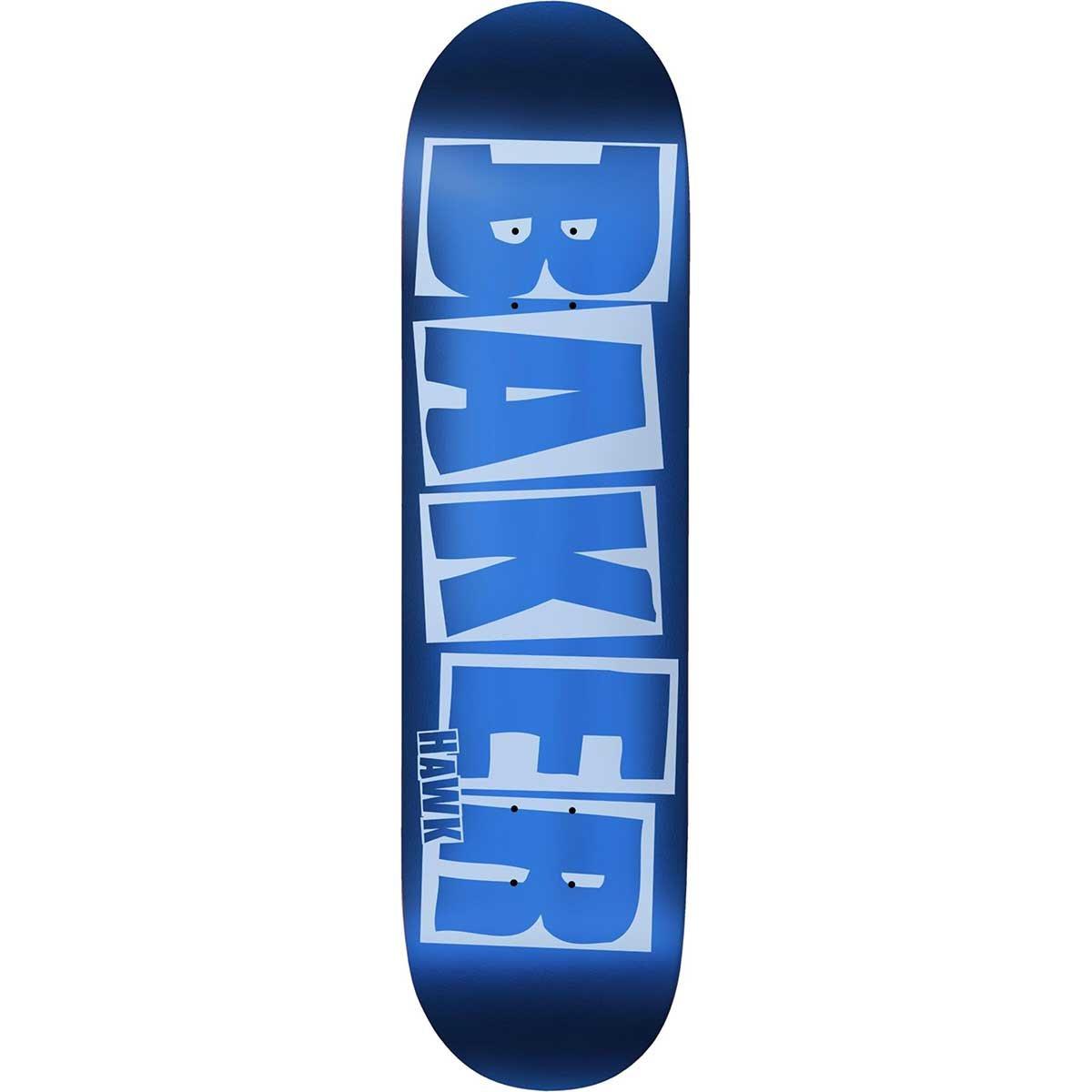 Baker Hawk Brand Logo Blue Foil Deck B2