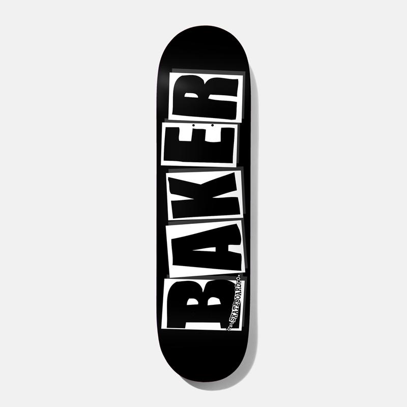 Baker Logo Skateboard Deck Blk/Wht