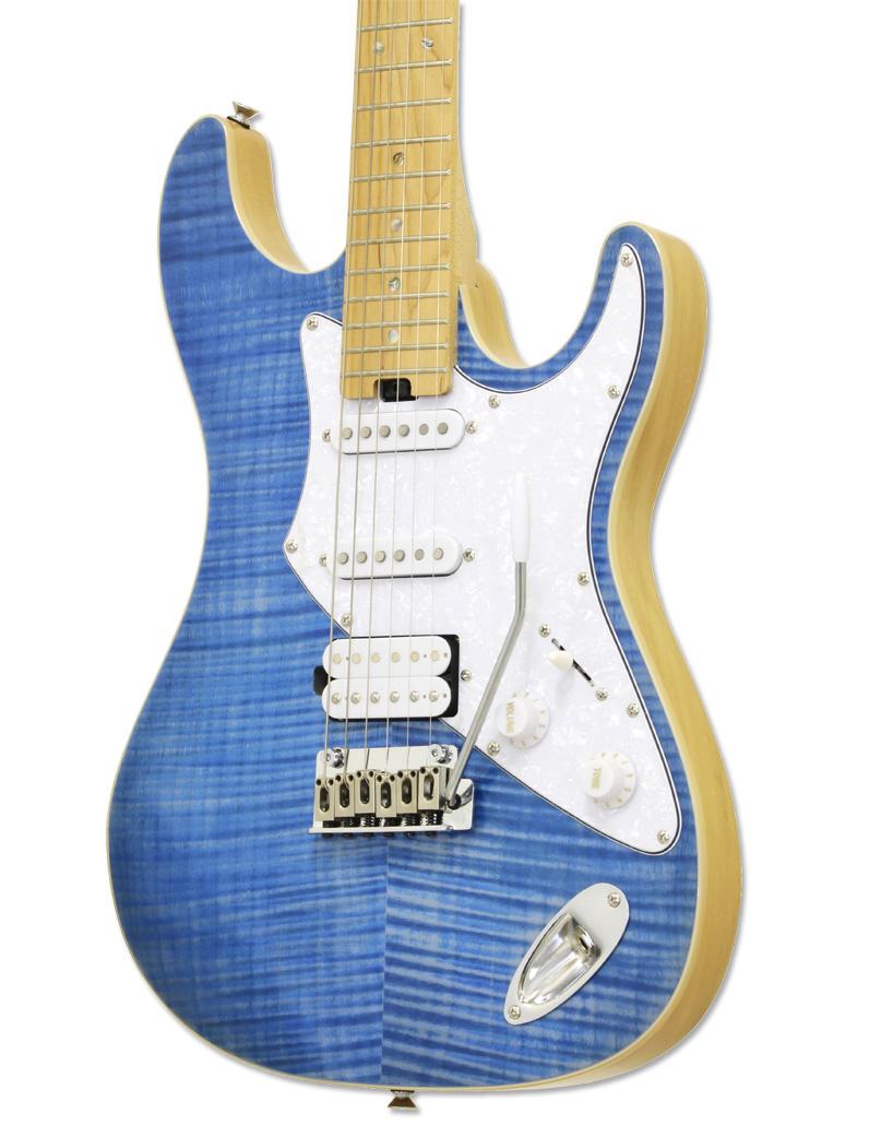 Aria 714 MK California Fullerton Turquoise Electric Guitar