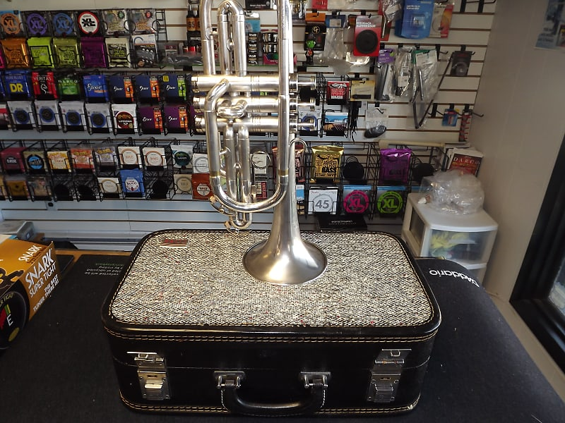 Vintage Conn Director Marching Men Cornet Outfit with Original Tweed Case