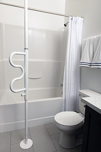 STANDER SECURITY CURVE POLE GRAB BAR WHITE