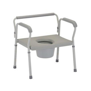 BARIATRIC COMMODE W/ EXTRA WIDE SEAT