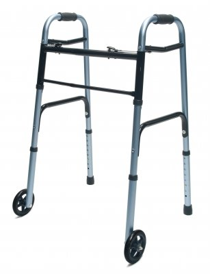 LUMEX COLOR SELECT ADULT FOLDING WALKER WITH 5 WHEELS