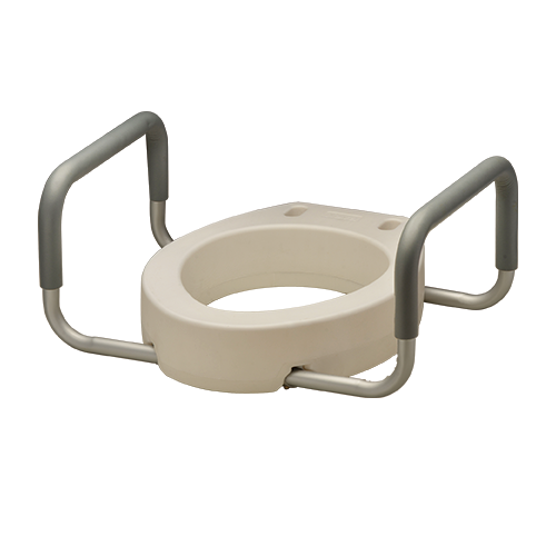 TOILET SEAT RISER W/ ARMS ELONGATED
