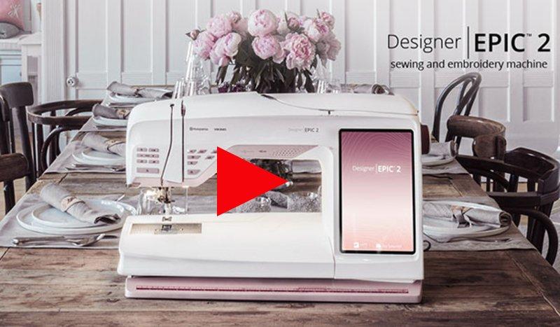 Husqvarna Viking Designer EPIC 2 Sewing Embroidery Machine