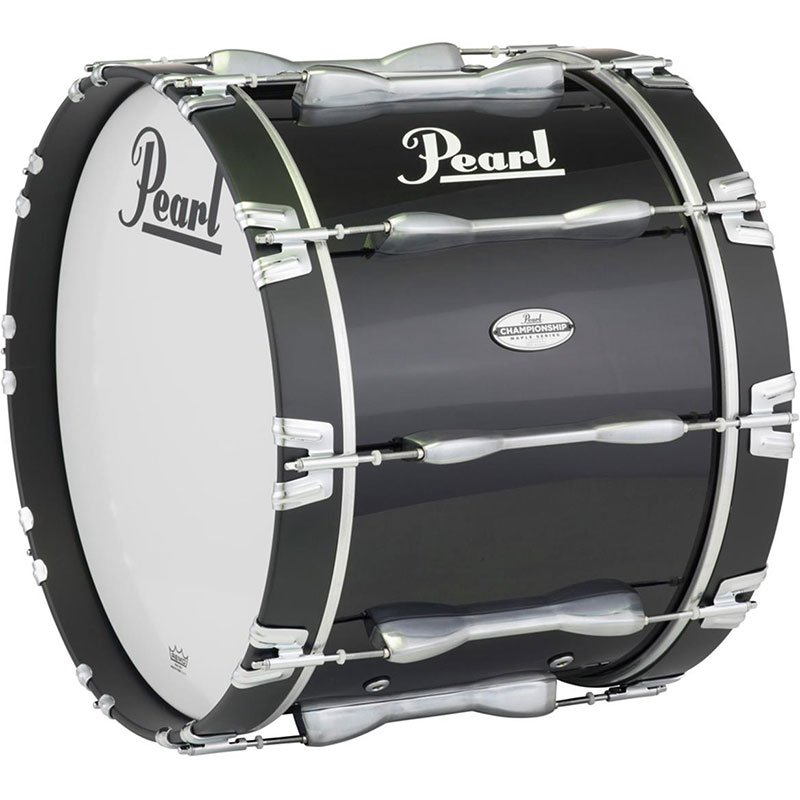 Pearl 16x14 Championship Maple Bass Drum with Piano Black Lacquer Finish - Used