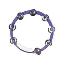 RhythmTech 10 Double Row Tambourine Blue