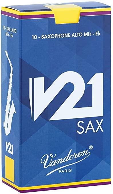 Vandoren V21 Alto Saxophone Reeds - Box of 10