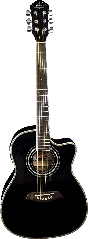 Oscar Schmidt OG1CE 3/4-Size Dreadnought Cutaway Acoustic-Electric Guitar - Black