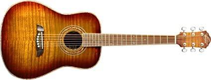 Oscar Schmidt OG1FYS-A-U 3/4 Size Dreadnought Acoustic Guitar (High Gloss)Flame Yellow Sunburst