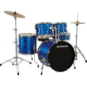 Ludwig Element Evolution 5-piece Drum Set with Zildjian I Cymbals - 22 - Blue Sparkle