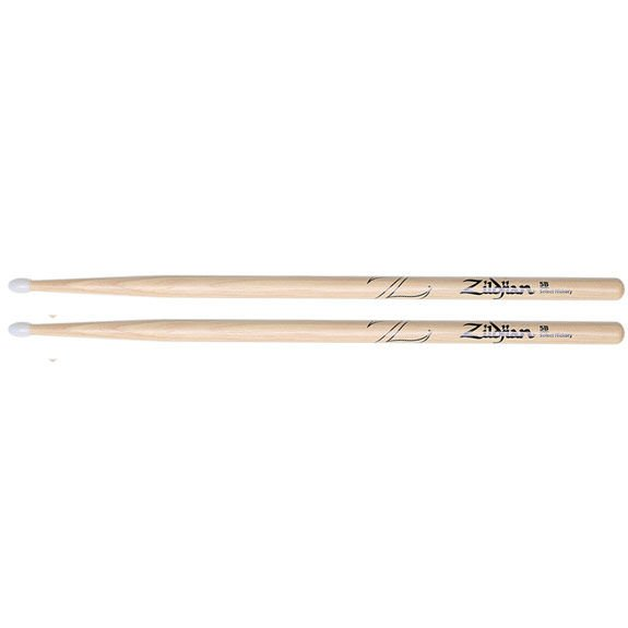 Zildjian 5BN Hickory Drum Stick - Nylon Tip