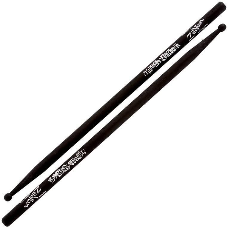 Zildjian Travis Barker Signature Drum Stick (Black) - Wood Tip