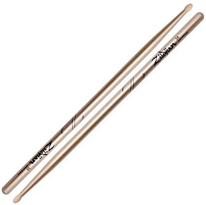 Zildjian 5A Chroma Series Gold Drum Sticks - Wood Tip