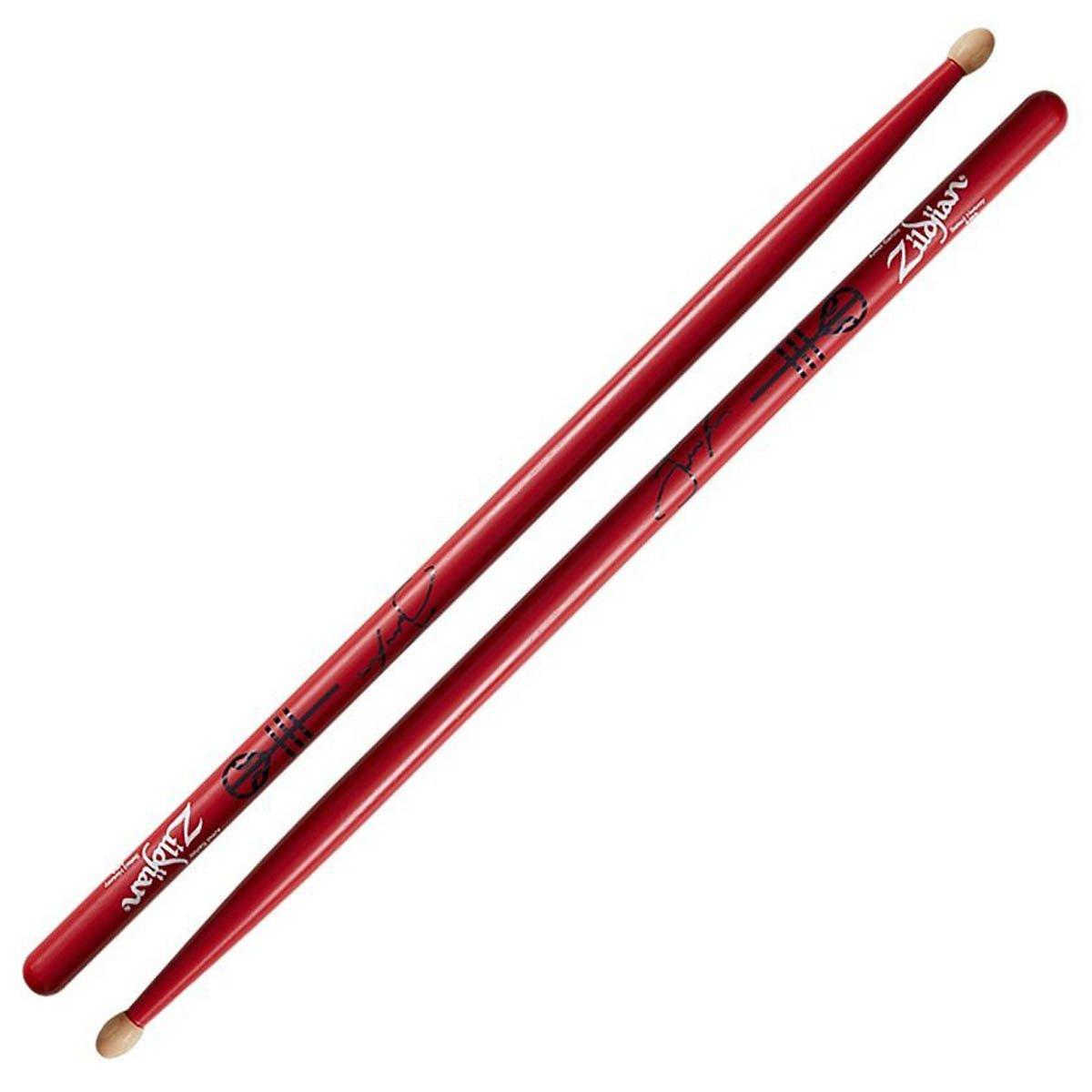 Zildjian Josh Dunn Signature Drumsticks (Red) - Wood Tip