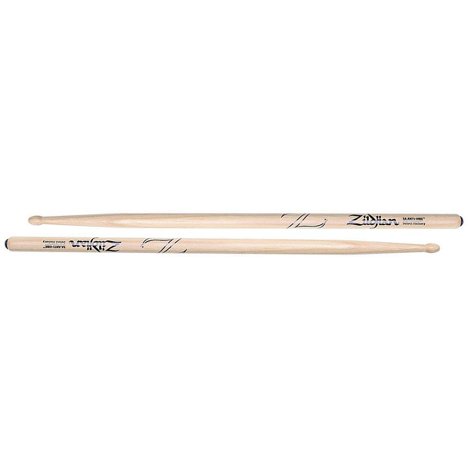 Zildjian 5A Anti-Vibe Hickory Drum Stick - Wood Tip